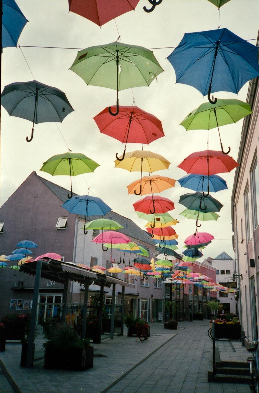 A lot of umbrellas