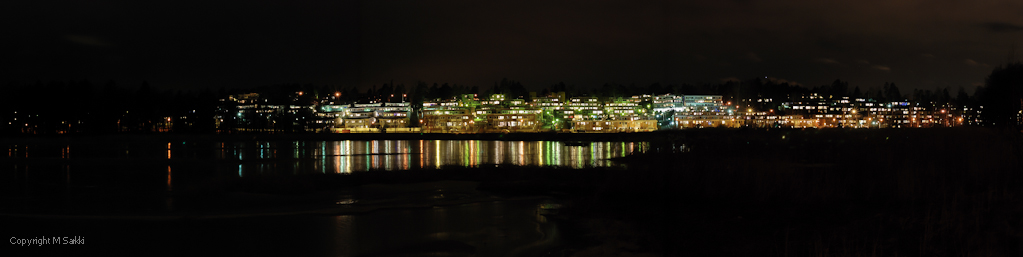 Kivenlahti panorama by night